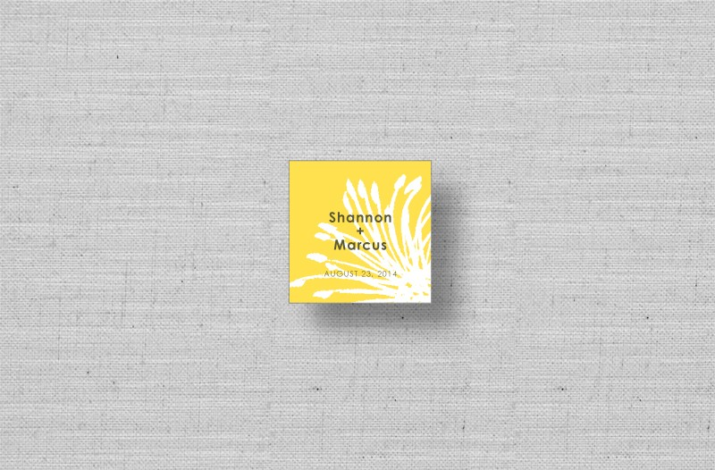 modern yellow personalized gift tags