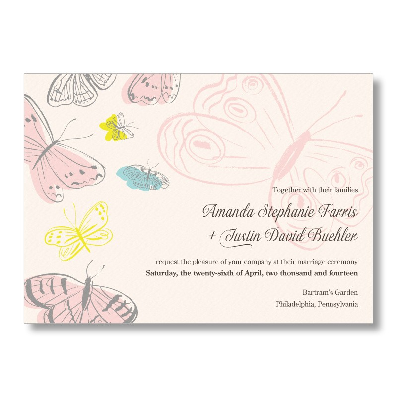 Spring Butterfly Wedding Invitations from MarryMoment