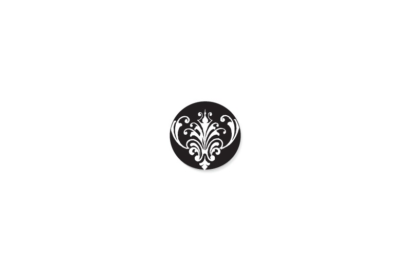 Dapper Damask round sticker