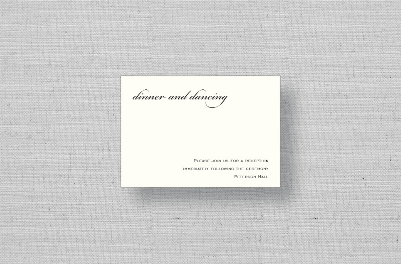 elegant script thermography enclosure cards