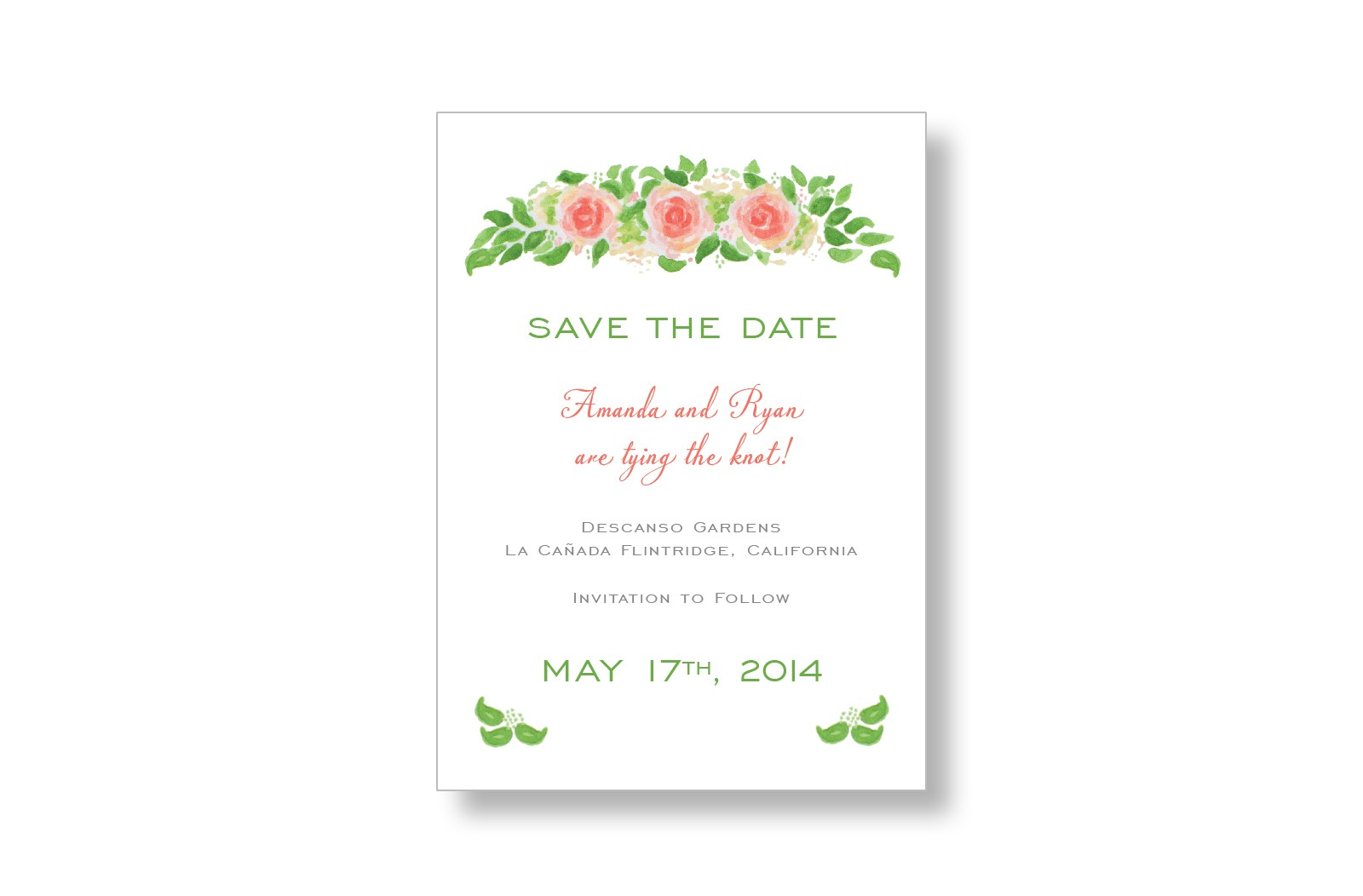 Garden Roses Wedding Save the Date Cards from MarryMoment – Wedding Save the Date Text