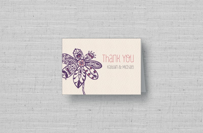 Personalized Wedding Thank You Cards From Marry Moment