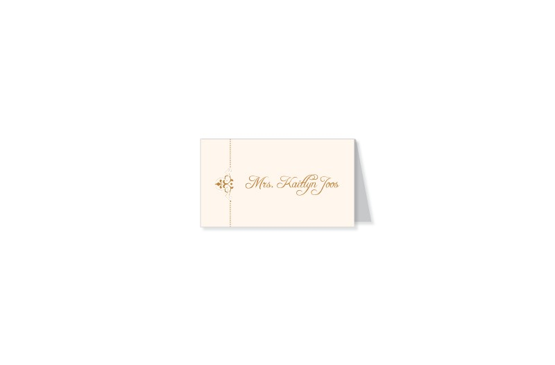 Fleur thermography wedding place cards