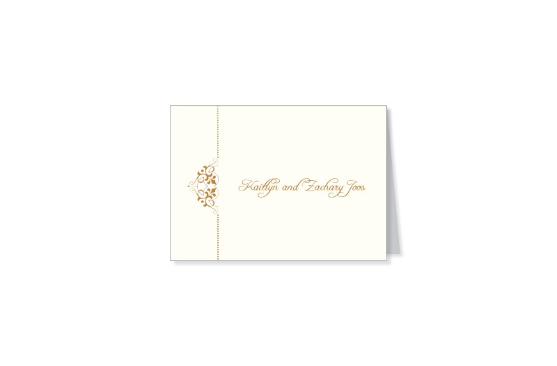Fleur thermography wedding thank you cards