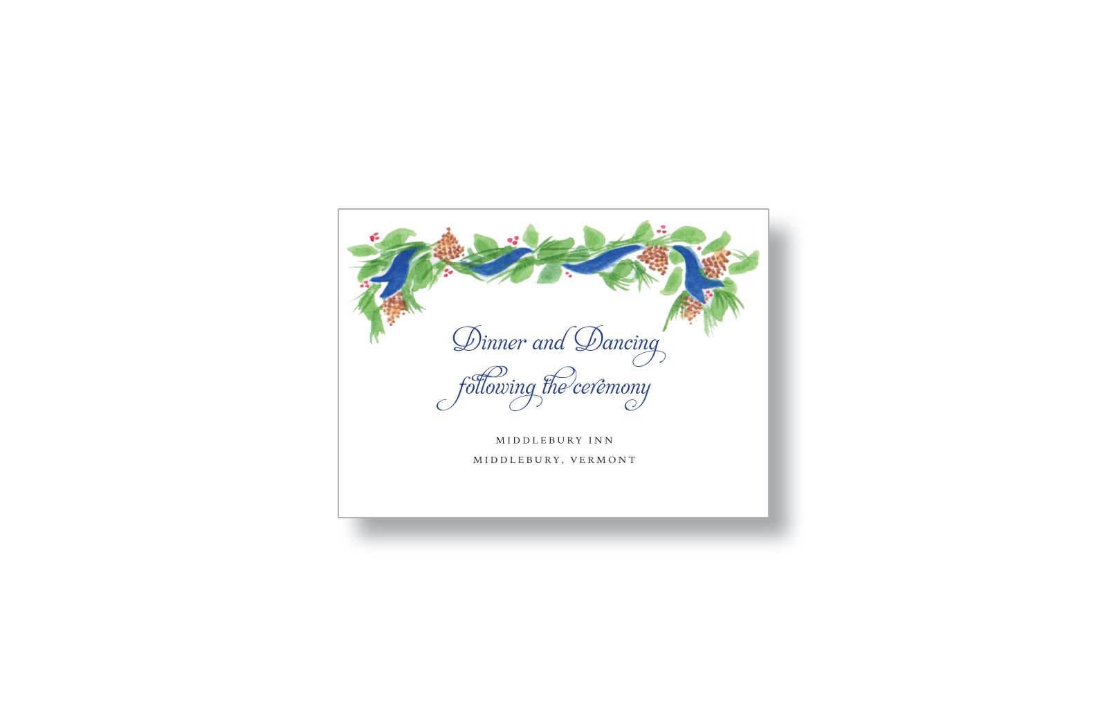 Brushed Pine Wedding Reception Cards from Marry Moment