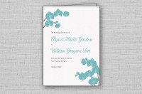 Modern orchid wedding program