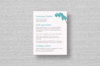 aqua orchids wedding enclosure cards
