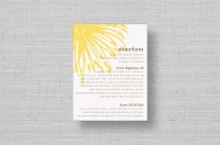 modern yellow flower wedding enclosure cards