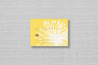 modern yellow flower wedding rsvp cards