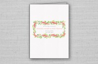 garden roses wedding program cover