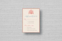 Coral Reef Wedding RSVP cards