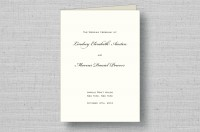 sophisticated script thermography wedding programs