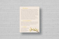modern branches wedding directions cards