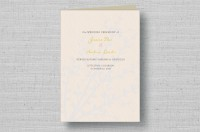 autumn tree folded wedding ceremony programs