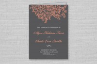 vintage floral wedding ceremony programs