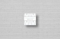 modern chevron personalized gift tags