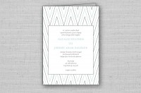 modern chevron wedding ceremony programs