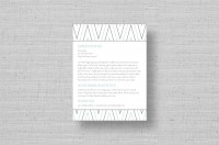 modern chevron wedding information cards