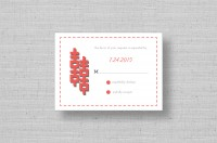 double happiness wedding reply cards