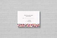 Confetti Chic modern wedding RSVP card