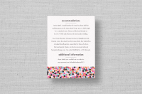 chic dots wedding information cards