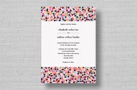 chic modern confetti wedding invitations