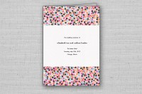 Confetti chic ceremony program cover - pink