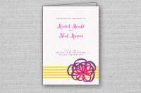 bright ribbon wedding program