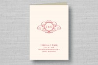 Twirling Monogram thermography wedding ceremony programs
