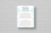 modern flower wedding direction cards