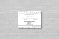 chevron stripe wedding reply cards