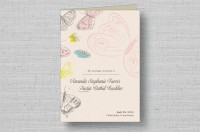 butterfly folded wedding programs