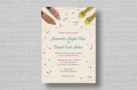 mod rustic wedding invitations