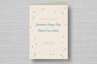rustic confetti wedding programs - cover