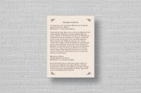 Secret Garden Wedding Enclosure Cards