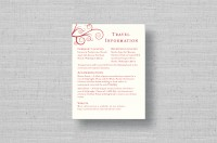 swirl thermography wedding directions card