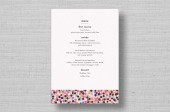 Confetti Chic Wedding Reception Menu Cards