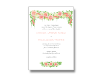 roses wedding invitations