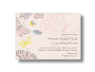 butterflies wedding invitations